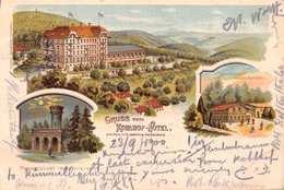 U M Oberhalb HEIDELBERG-KOHLHOF HOTEL-POSSET'S LUST-1900 POSTMARK POSTCARD 40410 - Heidelberg