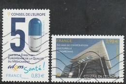 FRANCE CONSEIL DE L EUROPE 2014 YT 159 + 160  OBLITERE - Dienstpost
