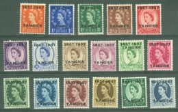 Morocco Agencies - Tangier: 1957   Centenary Of British Post Office In Tangier OVPT Set    SG323-339   MH - Morocco (1956-...)