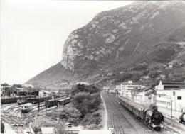 GRENOBLE  CHEMIN DE FER - LOCOMOTIVE A VAPEUR - PHOTO JEAN-LOUIS POGGI  -  SPECIALE AFAC 1973 - Railway