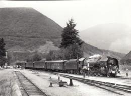 ST GEORGES DE COMMIERS ISERE -  CHEMIN DE FER - LOCOMOTIVE A VAPEUR - PHOTO JEAN-LOUIS POGGI  -  SPECIALE AFAC 1973 - Railway