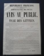 Fac-Similé De L'affiche Annonçant La Création Du Timbre / Cérès /contenu Dans Le Coffret Prestige 170 Ans 1849/2019 - Documents De La Poste