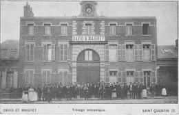 SAINT QUENTIN DAVID ET MAIGRET Tissage Mécanique Carte Publicitaire - Saint Quentin