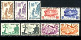 St Pierre Et Miquelon 1947 Yvert 325-326-328/330-332-333-335-336 ** TB - Ungebraucht