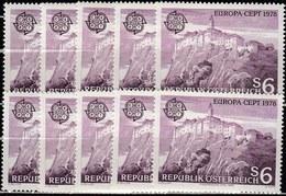 10x Austria 1978, Europa (architecture, Castle) (MNH, **) - Timbres