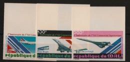 Mali - 1979 - Poste Aérienne PA N°Yv. 351 à 353 - Concorde - Non Dentelé / Imperf. - Neuf Luxe ** / MNH / Postfrisch - Concorde
