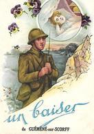 Un Baiser De GUEMENE  MILITAIRE Promise Pensées 07 Juin 1940 Lecture Au Dos Soldat Gazé - Guemene Sur Scorff