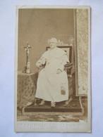 Photographie Ancienne CDV - PAPE  PIE IX ( 1792-1878) - Photo D'ALLESSANDRI, ROMA -  TBE - Alte (vor 1900)