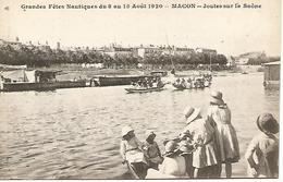 Ac5/      71   Macon     Fetes Nautiques Du 8 Au 15 Aout 1920   Joutes Sur La Saone   (animations) - Macon