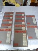 """Lot 12 Revues  Techniques """" électricité"""" Années 54 , 53, 52 - Lots De Plusieurs Livres"""