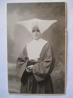 Photographie Ancienne CDV - RELIGIEUSE - Cornette - Dos Muet - Foto