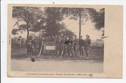 CPA MILITARIA 11e Bataillon De Chasseurs Alpins Drapeau Des Chasseurs Manoeuvres1911 - Manovre