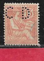 @ Perfin Y.T N° 125  Perfore  CD 72   Indice 6 - Gezähnt (Perforiert/Gezähnt)
