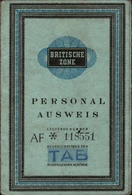 ! Alter Ausweis, Personalausweis, Passport, Passeport, Britische Zone, Italiener, Kiel - Documents Historiques