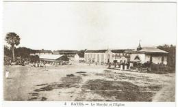 CPA - MALI - SOUDAN - KAYES - Le Marché Et L'Eglise - - Mali