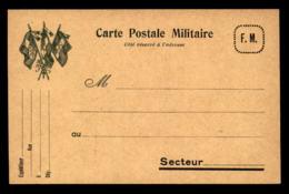 CARTE DE FRANCHISE MILITAIRE - DRAPEAUX - Marcophilie (Lettres)