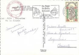 LOIR ET CHER 41   -  MONTOIRE SUR LOIR    -  FLAMME  VOIR DESCRIPTION  - 1966. -  POETE RONSARD - Poststempel (Briefe)