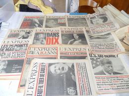 """Lot  12 Journaux """"l'express"""" Année 1963 - Lots De Plusieurs Livres"""