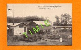 CPA ANIMEE 1923 - 64 - BAYONNE - USINE D'AGGLOMERES WORMS - OUVRIERS FABRIQUANT DES BRIQUETTES ET DES BOULETS DE CHARBON - Bayonne