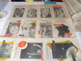 """Lot  12 Journaux """"l'express"""" Année 1957 - Lots De Plusieurs Livres"""