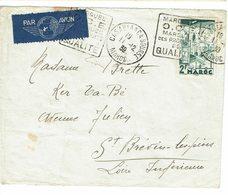 DAGUIN MAROC CASABLANCA BOURSE 2 FRAPPES  OCE MARQUES DES PRODUITS DE QUALITE      J33 - Morocco (1891-1956)