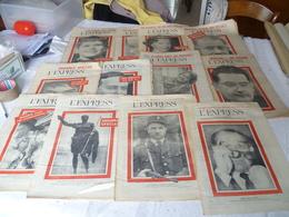 """Lot  24 Journaux """"l'express"""" Année 1958 - Lots De Plusieurs Livres"""