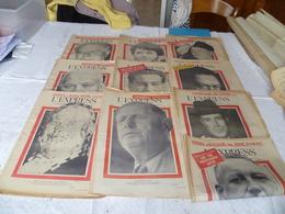 """Lot  10 Journaux """"l'express"""" Année 1960 - Lots De Plusieurs Livres"""