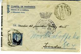 1936 GUERRA CIVIL  SAN FERNANDO JEFATURA DE BASE NAVAL CENSURA S32.1  ELA54 - Nationalistische Zensur