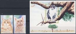 MDKH-BK1-131-2 MINT PF/MNH ¤ GRENADA 2w In Serie + BLOCK ¤ CATS KATTEN CATOS - Sellos