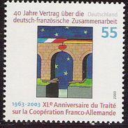 2003 Allem. Fed.  Mi. 2311 **MNH . 40 Jahre Vertrag über Die Deutsch-französische Zusammenarbeit - Europese Gedachte