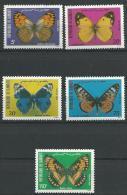 """Djibouti YT 574 à 578 """" Papillons """" 1984 Neuf** - Djibouti (1977-...)"""