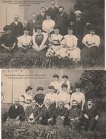 2 CPA:EPINAC LES BONNES MINES PENSIONNAIRES PAVILLON ALEXANAH,CONFÉRENCE MAI 1908 HYMÉNOMYCÈTES ET LES LILIACÉES... (71) - Autres Communes