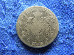 FRANCE 2 FRANCS 1866 A, KM807.1 - I. 2 Francs