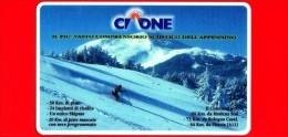 VIACARD - Viacard Pubblicitarie - Monte Cimone - Sciatore - Tessera N. 262 - 50.000 - Pik - Italië
