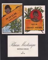 3 Etiquettes De Rhum - Rhum