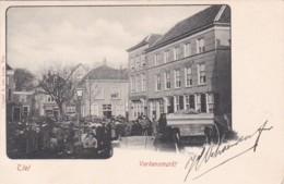 260456Tiel, Varkensmarkt Met Hotel De Zon J. Gubbels Rond 1900. - Tiel