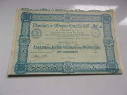 Manufacture D'orgues CAVAILLE COLL MUTIN (1924) - Acciones & Títulos