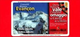 VIACARD - Valle D'Aosta - Casinò De La Vallée - Evancon - Tessera N. 268 - 50.000 - Pik - Italië