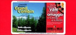 VIACARD - Valle D'Aosta - Casinò De La Vallée - Grand Combin - Tessera N. 272 - 50.000 - Pik - Italië