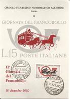 ITALIA - 1960 PARMA 2^ Giornata Del Francobollo Su Cartolina Speciale - Francobolli