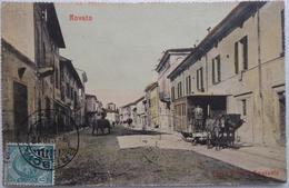 """Rovato - Corso Vittorio Emanuele - Rare Carte Très Animée De 1912 - """"Tramway Caléche,.."""" - Brescia"""