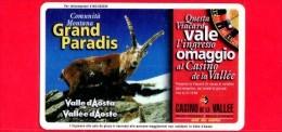 VIACARD - Valle D'Aosta - Casinò De La Vallée - Grand Paradis - Tessera N. 276 - 50.000 - Pik - Italië
