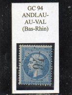 Bas-Rhin - N° 22 Obl GC 94 Andlau-au-Val - 1862 Napoléon III.