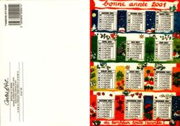Bonne Année 2001- Cartes D'Art Micheline Le Berre - Cartes Postales
