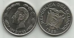 Ecuador 1 Sucre 1985. - Ecuador