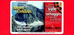 VIACARD - Valle D'Aosta - Casinò De La Vallée - Mont Emilius - Tessera N. 284 - 50.000 - Pik - Italia
