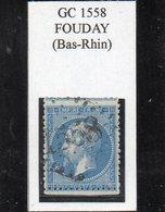 Bas-Rhin - N° 22 Obl GC 1558 Fouday - 1862 Napoléon III.