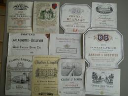 LOT D'ENVIRON 100 ETIQUETTES  - CHATEAU RABAUD 1959 - OLIVIER 1966 - LAMOTHE - LAROQUE ... - Collections & Sets