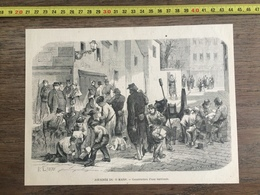 DOCUMENT GRAVURE 1871 PARIS JOURNEE DU 18 MARS CONSTRUCTION D UNE BARRICADE - Vieux Papiers