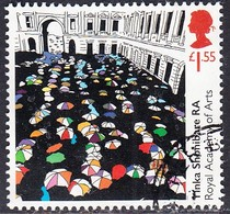 """2018 GB  250th Anniversary Of The Royal Academy Of Arts  - """"Queuing At The RA"""", By Yinka Shonibare RA  £1.55  Used - 1952-.... (Elizabeth II)"""